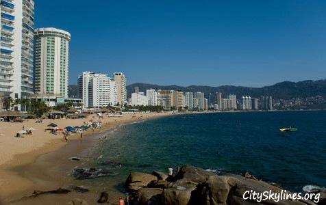 Acapulco Beach Skyline