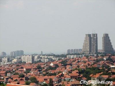 Belgrade Skyline over looking the town