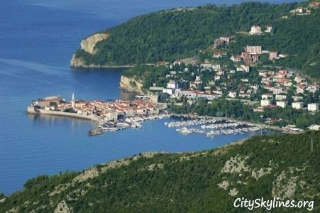Budva, Montenegro Ocean View Skyline