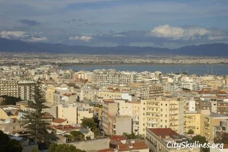 Cagliari City Skyline, Sardinia Italy