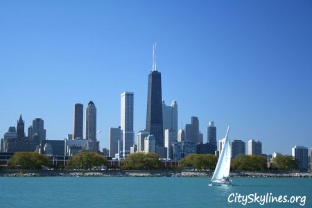 Chicago Illinois, Lake Skyline