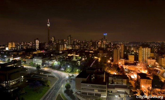 Johannesburg at Night, South Africa