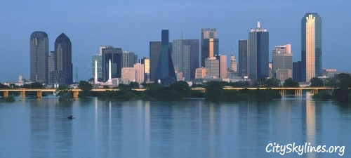 Dallas Skyline Water View