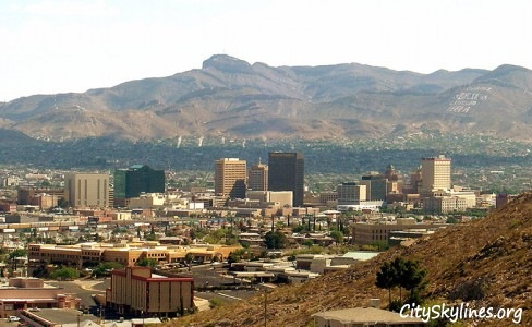 El Paso, Texas City Skyline