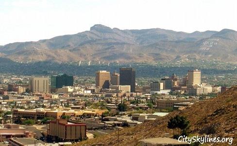 El Paso, Texas City Skyline