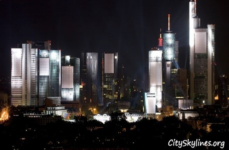 Frankfurt Night Skyline, Germany