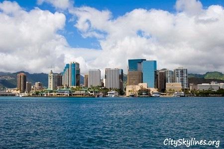 Honolulu Day Skyline, Hawaii