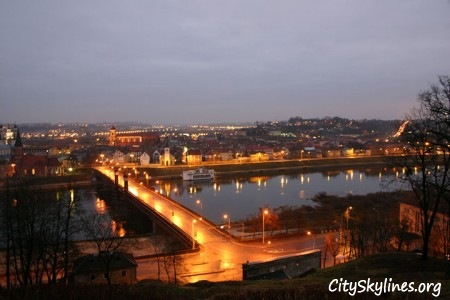 Kaunas City Skyline at night