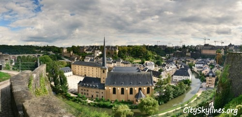Luxembourg City Skyline, Grand Duchy of Luxembourg