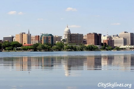 Madison City Skyline, Wisconsin