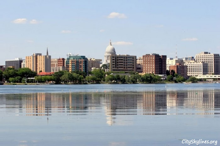 Madison City Skyline, Wisconsin