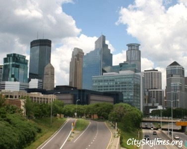 Minneapolis Skyline Street View