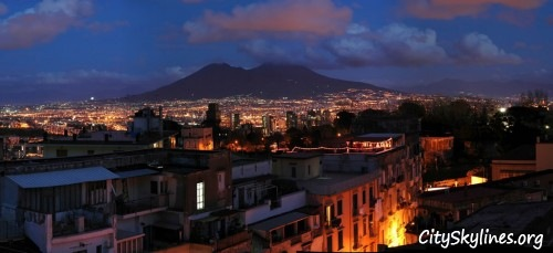 Naples Italy, Mountain backdrop