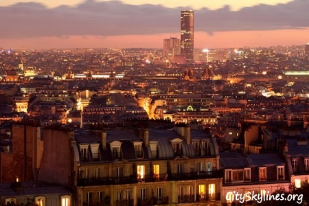City of Paris, France, Night Skyline