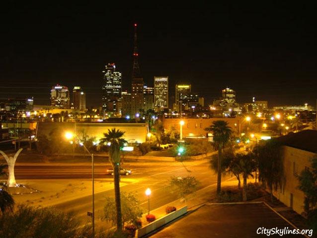 Phoenix Nigh Skyline, Arizona