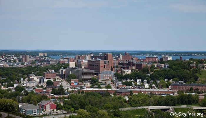 Portland City Skyline, Maine