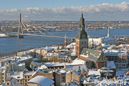 Riga City, Latvia - Bridge overlook