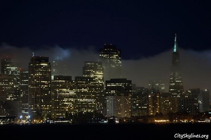 San Francisco Night City Skyline
