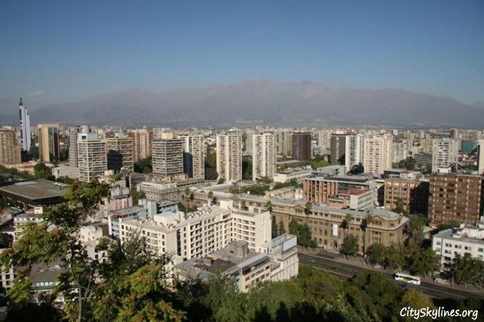 Santiago Chilie Skyline