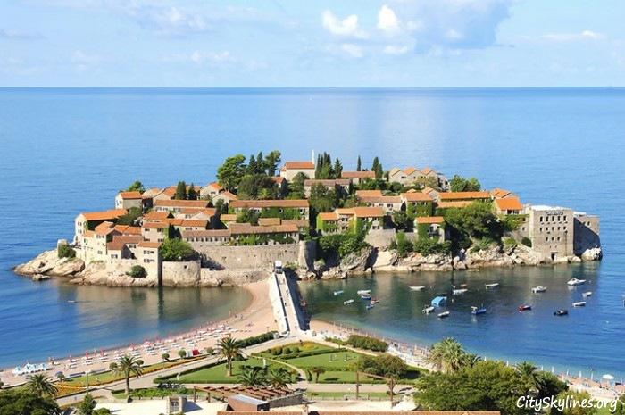 Sveti Stefan Island Skyline, Montenegro