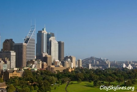 Sydney City Skyline, Overlooking Park