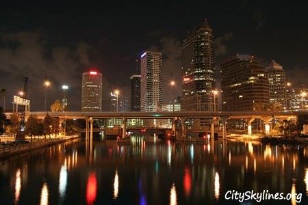 Tampa City Skyline at Night