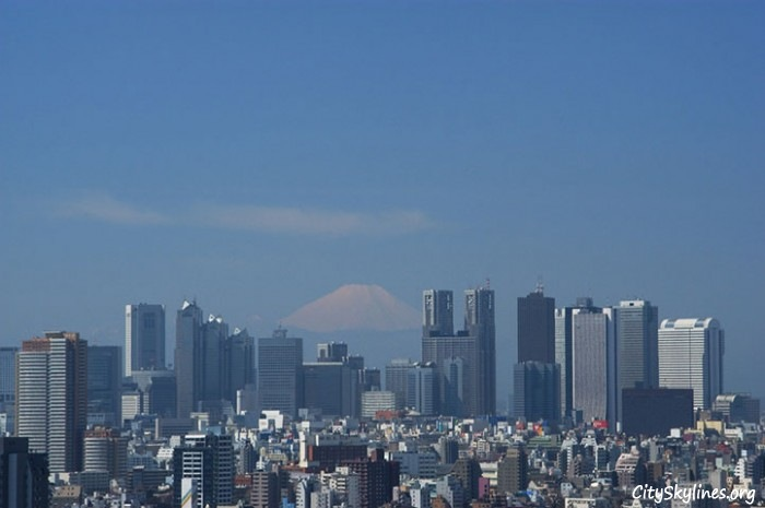 Tokyo City, Japan Mountain Background