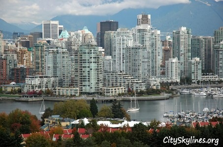 Vancouver BC, City Skyline