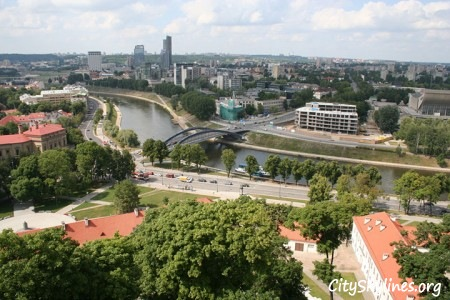 Vilnius City, Day view overlooking canal