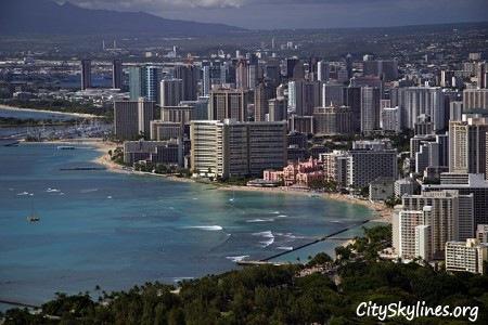 Honolulu City Skyline, Waikiki