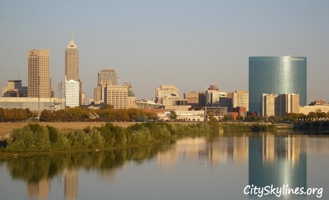 Indianapolis, Indiana City Skyline