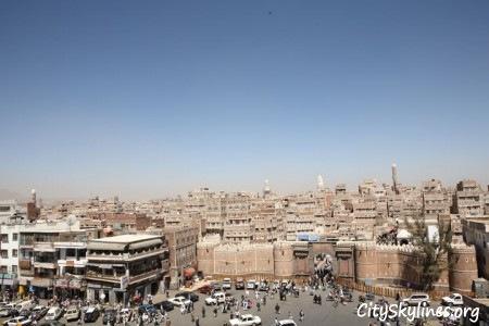 Sana'a City Skyline in Yemen