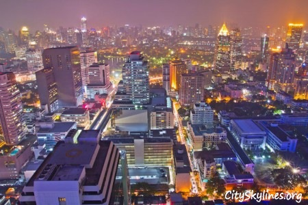 Bangkok City Skyline at Night