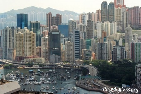 Causeway Bay Skyline in Hong Kong