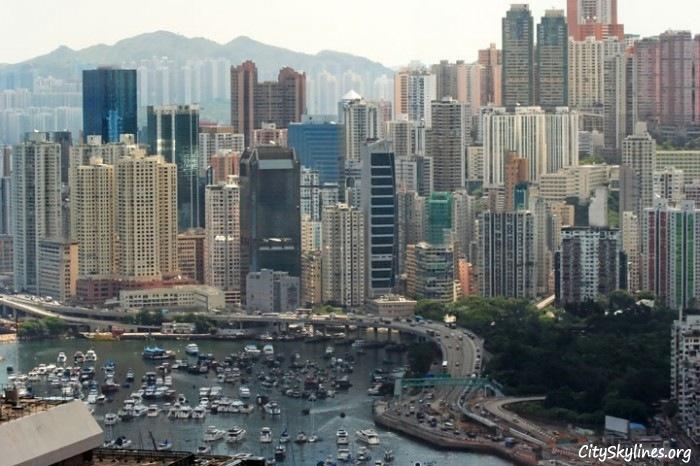 Causeway Bay Skyline in Hong Kong