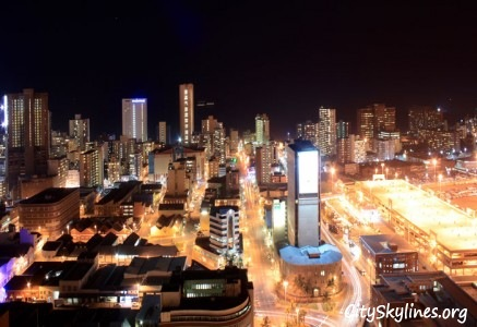 Durban City Lights at Night, South Africa