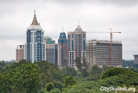 Downtown Bangalore City Skyline