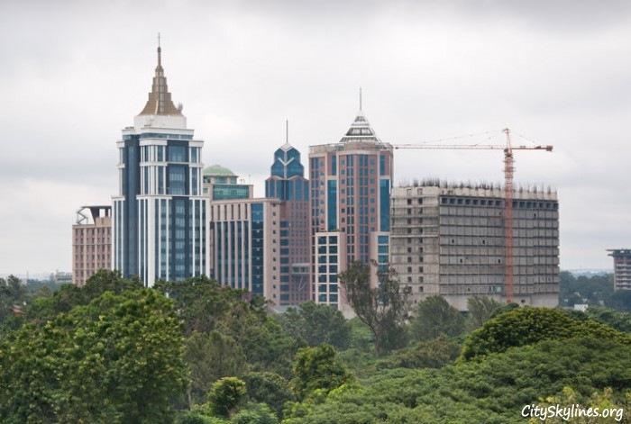Downtown Bangalore City Skyline