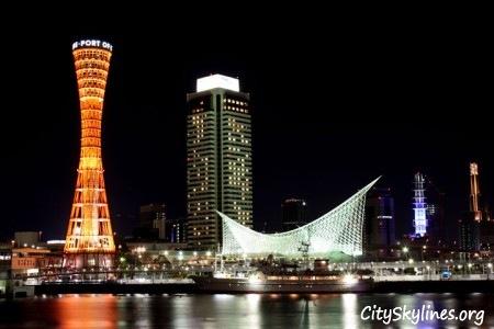Kobe Japan Skyline - Port View