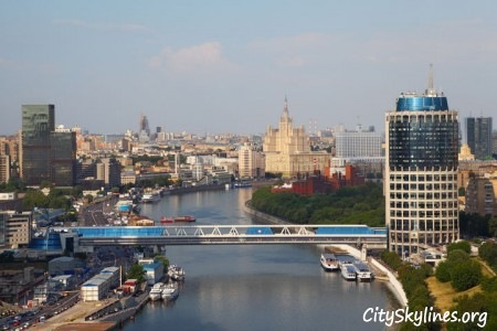 Moscow City Skyline - Canal View
