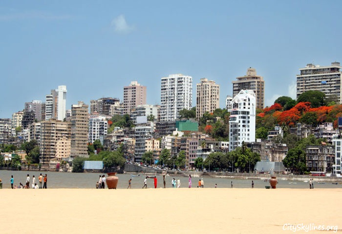 Mumbai City Beach Skyline, India