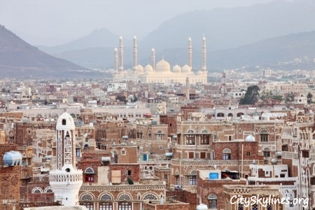 Old City of Sana'a, Mountain Backdrop