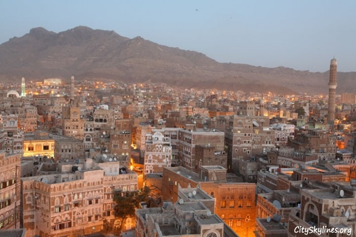 City of Sana'a at Dusk