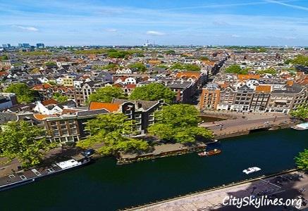 Amsterdam City Skyline - Canal Overlook