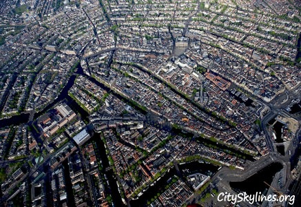 City of Amsterdam, Netherlands - Sky Overlook
