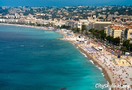 Nice City Skyline, France - Azure Coast
