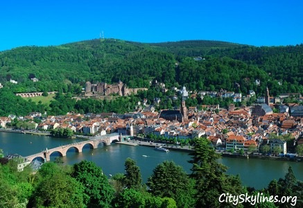 Heidelberg Skyline, Germany - Neckar River Overlook
