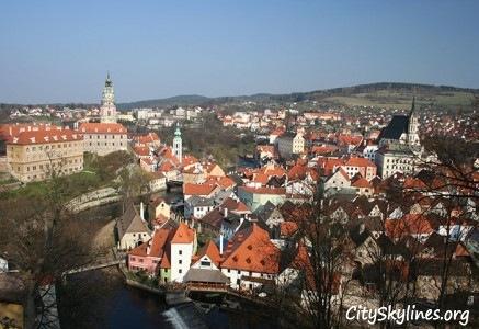 Český Krumlov City Skyline, Czech Republic