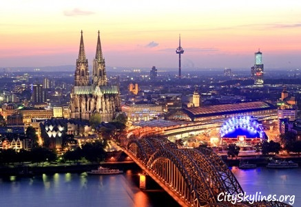Cologne Skyline - Bridge Overlook
