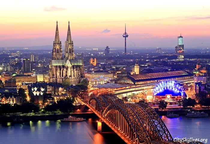 Cologne Skyline - Bridge Overlook